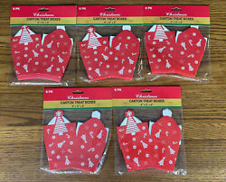 Lot Of 30 Christmas Tree Red Carton Treat Boxes New 6-packs Gifts Toys Snacks