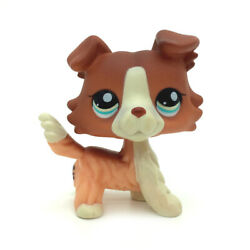 LPS #1542 Pet Shop Red Collie Dog Puppy Blue Eyes Figure Rare Toy