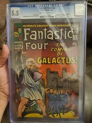Fantastic Four 48 Cgc 5.5 1st Appearance Of Galactus Off White To White Pages
