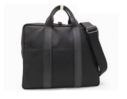 Hermes Acapulco Odina Tour Briefcase Black Leather With Accessories Hardware Men