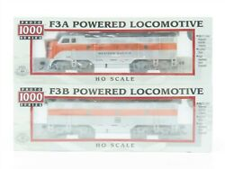 Ho Scale Proto 1000 31425 Wp Western Pacific F3 A/b Diesel Locomotive Set Sealed