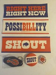 Nfl Buffalo Bills Vintage Inspired Bumper Stickers, Key Chain And Buttons Set New