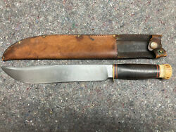 Marbles Trailmaker 10 Gladstone Mich Usa Antique Early 1900s Knife W/ Sheath 6