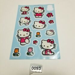 SANRIO HELLO KITTY stickers sheet 2012 3D puffy dimensional tulips flowers pink