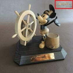 Limited To 1000 Mickey Mouse Anri Italian-made Wooden Doll Steam Ship Willie