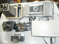 Set Of 6 Vintage Cameras - Multiple Brands And In Varying Condition - Read Descr