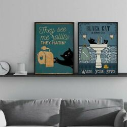 2Pcs Modern Art Canvas Oil Painting Print Wall Picture Poster Home Room Decor