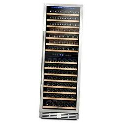 157 Bottle Freestanding Wine Cooler Refrigerator With Stainless 157 Bottle