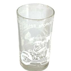 Vintage Welchandrsquos Jelly Flintstones Drinking Glass Fred In His Sports Car Usa 1962