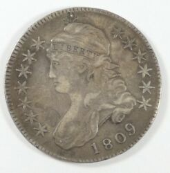 Bargain 1809 Capped Bust/lettered Edge Half Dollar Extra Fine Silver 50-cents