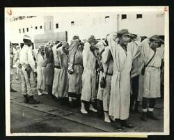 1945 Japanese Solders Prisoners Searched By Colored Troops Wwii Hospital Ship