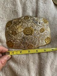 Vintage Very Large Crumrine Heavy Silver Plate On Jewelers Bronze