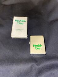 Vintage Industrial Mountain Dew Lighter With Original Box-never Used-japan