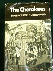 1976 Vtg Book Grace Steele Woodward The Cherokees, Native American Indian Tribes