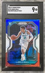 2020-21 Panini Prizm Lamelo Ball Red White Blue 278 Rookie Rc Sgc 9 Read