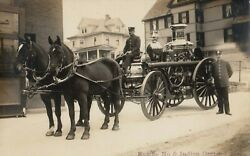 Rp Indian Orchard Massachusetts 1910s Horse-drawn Fire Engine Wagon No.5