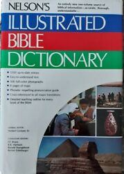 Nelson's Illustrated Bible Dictionary Hardback Book With Fly Cover Vintage New