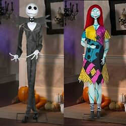 Jack Skellington And Sally Life Size Deluxe Animatronic Set Character Rare New