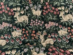 Vintage Floral amp; woodland animal Tapestry upholstery fabric BTY 54quot; wide