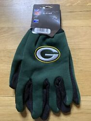 Green Bay Packers Gloves Non Slip Work Utility Adult Nfl Football Fan Palm Grip