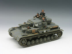 King And Country Fob039 Pzkpfw Iv D Tank Ww1/ww2 Miniature Figure