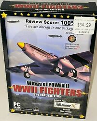 Wings Of Power Ii Wwii Fighters Special Edition Microsoft Flight Sim Brand New