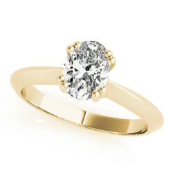 Diamond Anniversary Ring Oval E 1 Ct Si2 Solitaire 14k Yellow Gold Sizes 4.5 - 9
