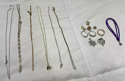 10k Gold Ring - Mixed Women's Fine Jewelry Lot Of Rings Chains Charms Pendants