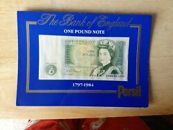 Bank Of England One Pound Note Presented By Persil 1797 To 1984. Free Uk Postage