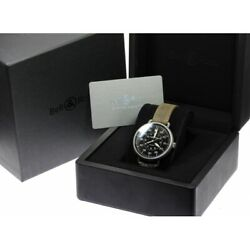 Bellandross Ww1-92-s Black Dial 45mm Automatic Vintage Military Menand039s Beauty Auth
