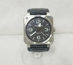 Bell And Ross Br0392-blc-st Aviation Automatic Men's Watch Black Leather Boxed