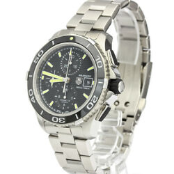 Tag Heuer Aquaracer 500m Chronograph Stainless Steel Automatic Menand039s 43mm Black
