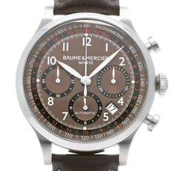 Baume And Mercier Baume And Mercier Capeland Chronograph M0a10002 Brown Leather