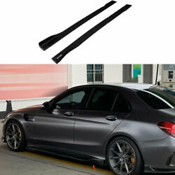For Benz C-class 15-21 Carbon Fiber Amg-style Side Skirts Extension Spoiler Lip