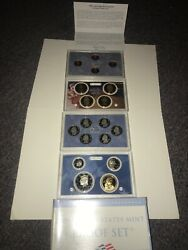 2009 Us Mint Proof Set 18 Coins Collector's Coa United States Mint Coin Set