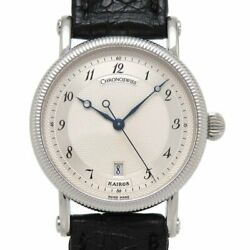 Chronoswiss Kairos Ch2023 Automatic Silver Dial Stainless Leather Boys Womens