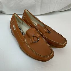 Mephisto Womenand039s Leather Cool Air Brown Loafers Slip On Shoes Buckle Size 6.5