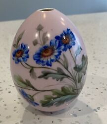 Beautiful Large Antique Russian Imperial Porcelain Easter Egg Handpainted