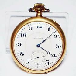 Waltham Waltham Pocket Watch Solid Gold 18k Antique Manual-winding 750 Engraved