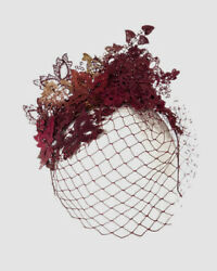 900 Vivien Sheriff Womenand039s Red Floral Crystal Fox Lace Applique Hat Headband