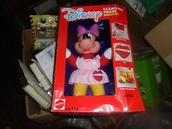 Vintage Disney Minnie Mouse Learn To Dress Doll 15andrdquo 1988 Mattel New