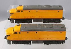 Lionel 2023 Vintage O Union Pacific Gray And Yellow Alco Aa Diesel Locomotive Set