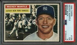 1956 Topps 135 Mickey Mantle Yankees Psa Ex 5 And Well Centered - Andymadec