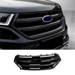 Paint Black Front Bumper Center Hood Grill Mesh 1pcs Fit For Ford Edge 2015-2018