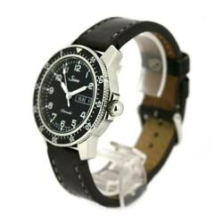 Sinn 104.st.sa.a Mens Watch Ss Stainless Steel Leather Belt Dial Black Automatic
