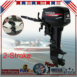 18hp 2stroke Outboard Motor Cdi Boat Engine Water Cooling Short Shaft 40cm Usa