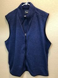 Nwt Menand039s Jack Nicklaus Sleeveless Blue Polyester Full Zip Vest Size 2x 75