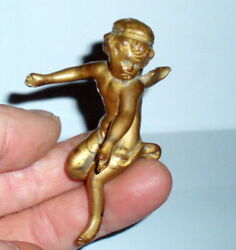 Rare Antique Art Nouveau Small Winged Flapper Girl Nymph Fairy Angel Figurine
