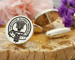 Robertson Scottish Clan Sterling 925 Silver Cufflinks - Hand Made In The Uk
