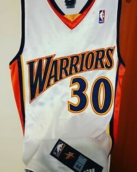Steph Curry 2009-10 Golden State Warriors Rookie Season Authentic Jersey Size 44